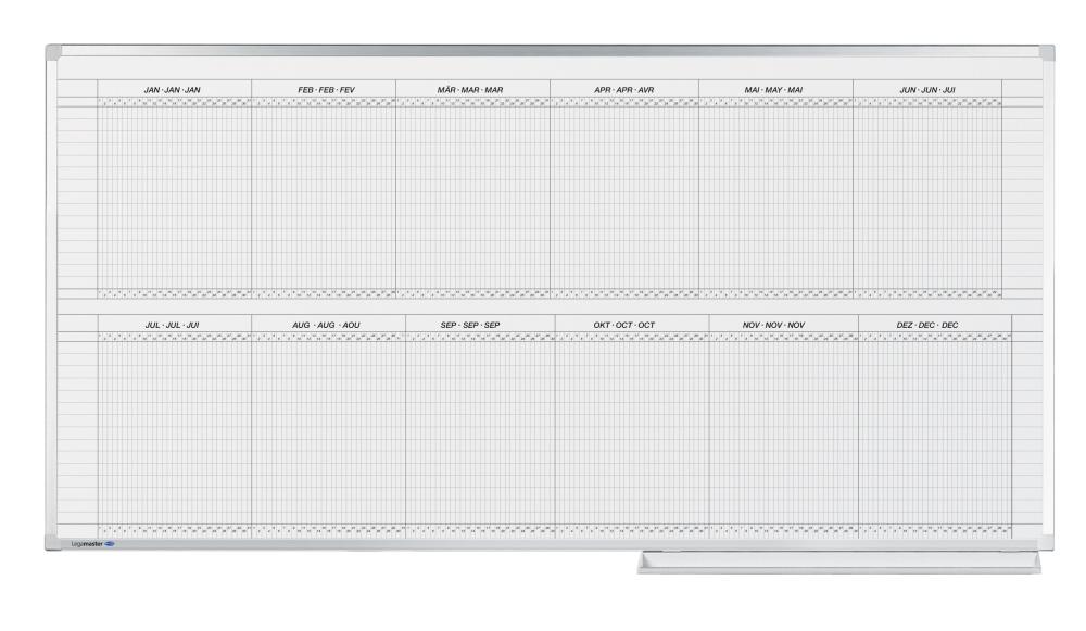 PROFESSIONAL roční plánovací tabule, 2 pol. (30 polí) 100x200