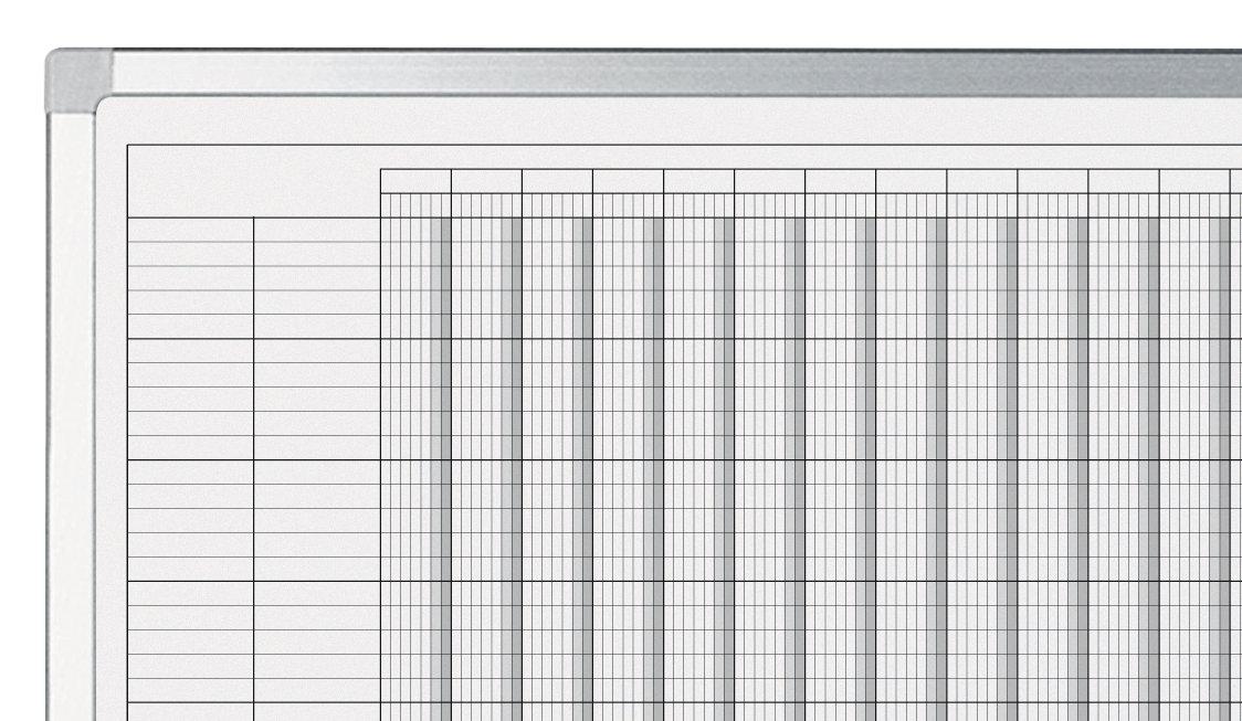 PROFESSIONAL roční plánovací tabule, 2 pol., (30 polí) 90x120