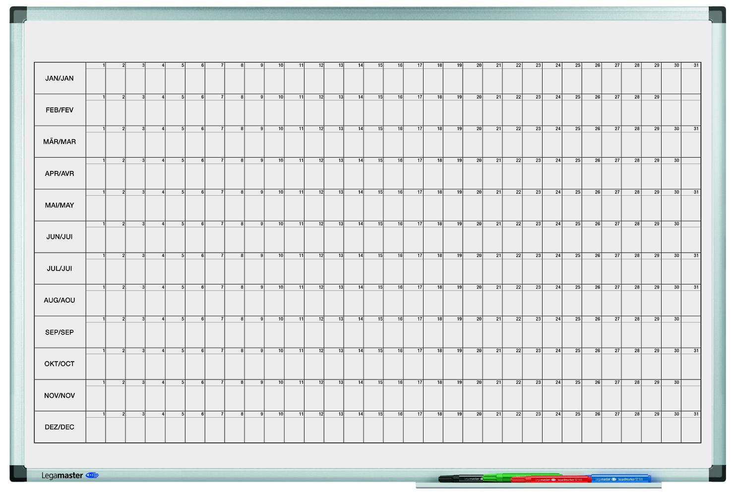 PREMIUM roční plánovací tabule horizontální 60x90
