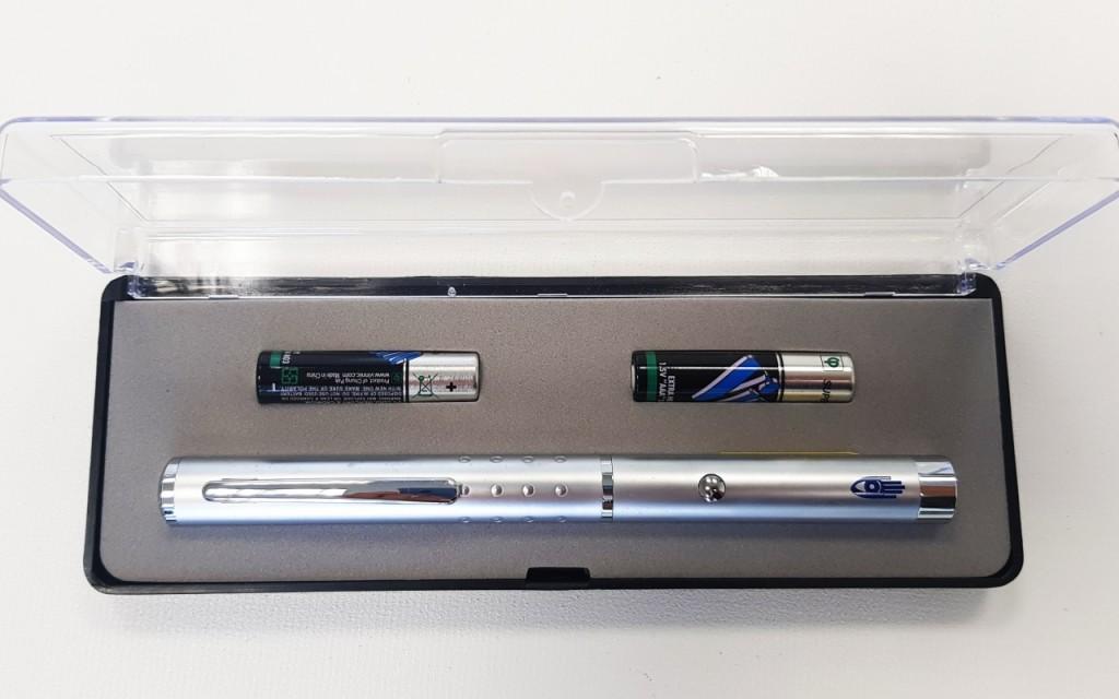 Laserové ukazovátko LX3, stříbrné se zeleným laserem