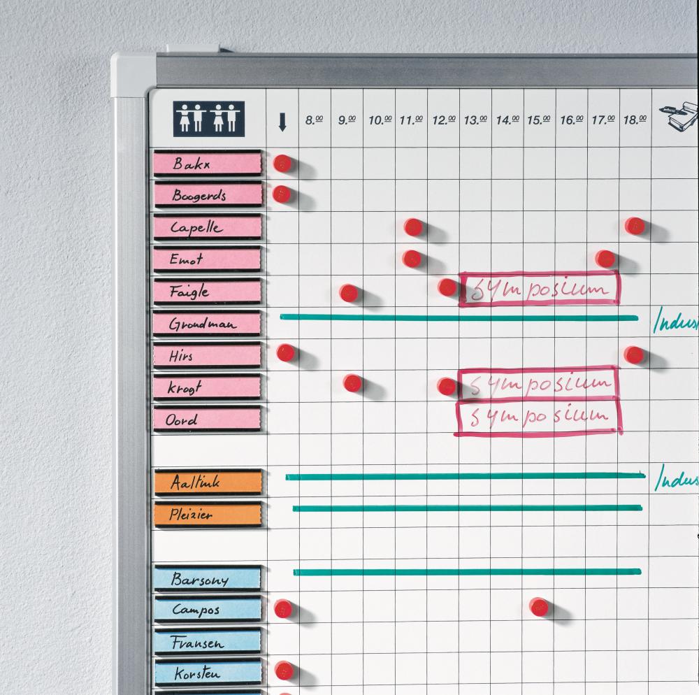 PROFESSIONAL tabule příchodů a odchodů 60x45 cm, pro 25 osob