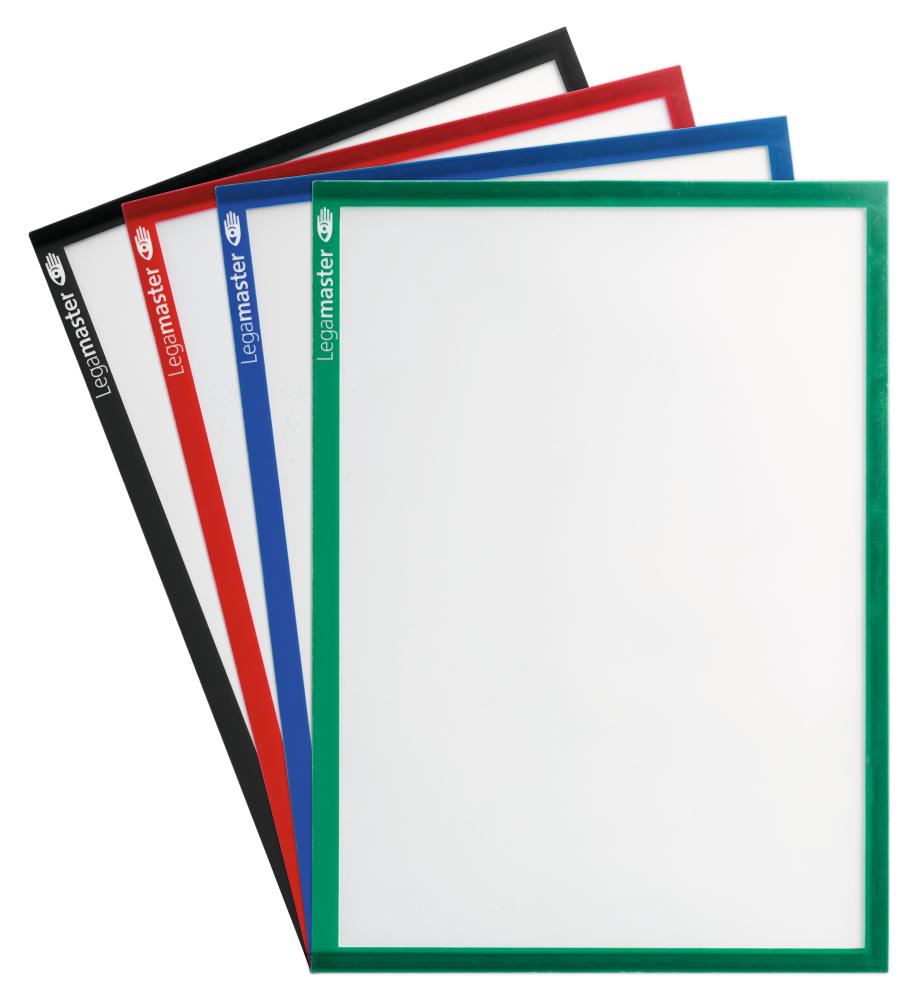 Magnetická fólie na dokumenty A4 - ČERNÁ  (sada 5 ks)
