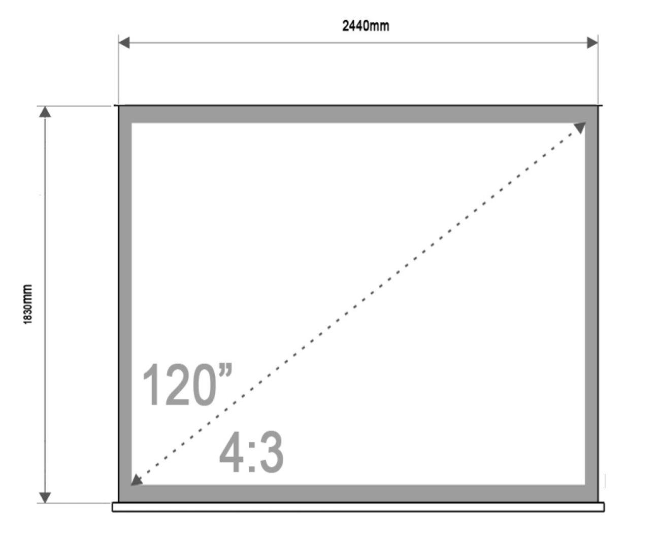 """4World Projekční plátno přenosné 244x183 120"""" 4:3"""