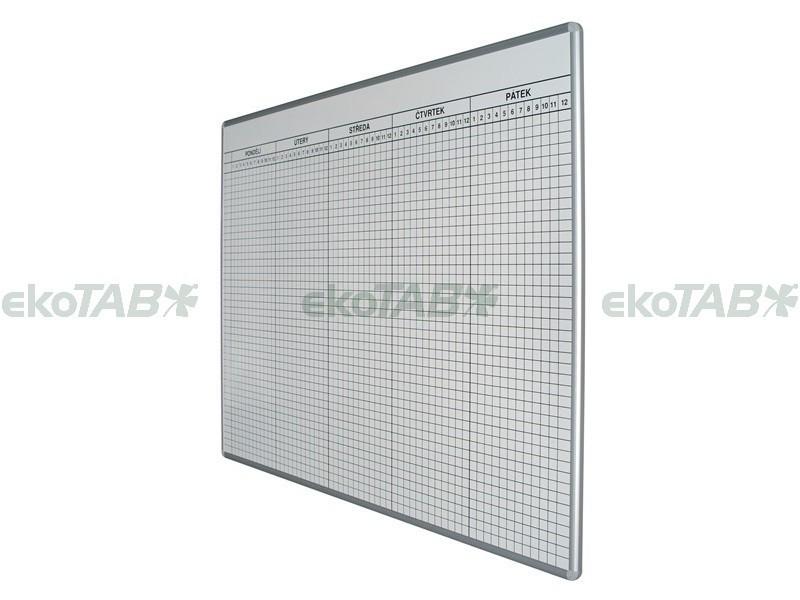 Tabule na ROZVRH HODIN do 26 tříd (100x70 cm)